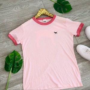 🌷VS PINK ringer tee blush pink mauve